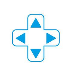 Videogame controller arrows icon vector