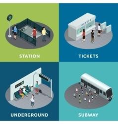 Subway isometric design vector