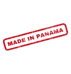 Made in panama rubber stamp vector