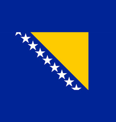 Colored flag of bosnia and herzegovina vector