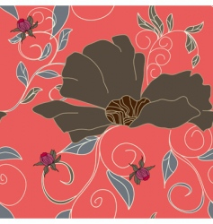 summer floral seamless pattern vector image