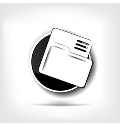 Folder web icon vector