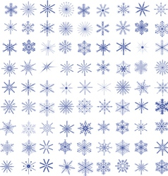 99 Snowflakes vector image