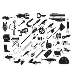 Equipment for fishing vector