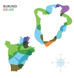 Abstract color map of burundi vector