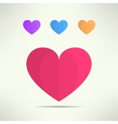 Heart icon in modern geometrical design vector
