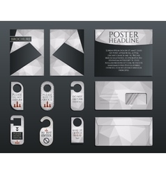 Business corporate branding identity set brochure vector