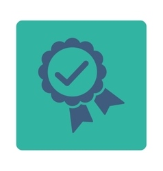 Approved icon from award buttons overcolor set vector