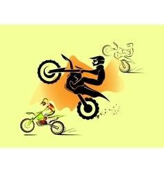 Motocross enduro set vector