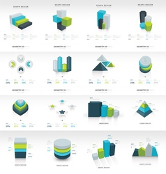 Geometry infographic template set vector