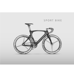 Realistic racing bicycle road racing vector