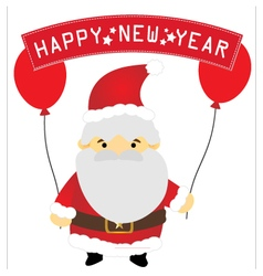 Santa claus holding a happy new year vector