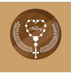 Holy rosary design vector