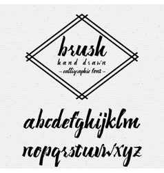 Hand drawn font handwriting brush It can be used vector image
