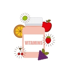 Vitamins and supplements design vector