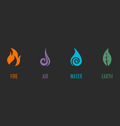abstract four elements symbols vector image vector image