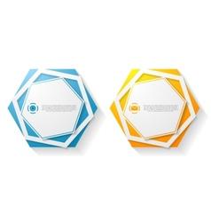 Abstract hexagon shape sticker vector