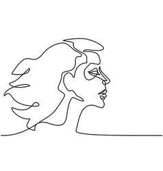 abstract portrait of a woman vector image vector image