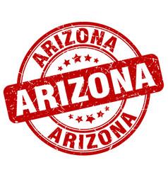Arizona red grunge round vintage rubber stamp vector