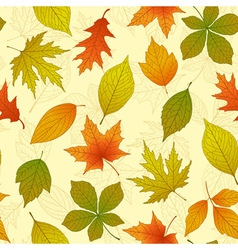 Aututmn seamless pattern vector image vector image