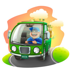 beer car vector image