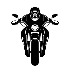 Biker icon man on a motorcycle vector