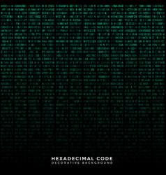 Binary code hex background vector