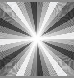Black and white light ray abstract background vector