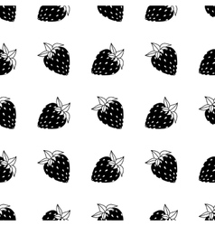 black and white strawberries vector image vector image