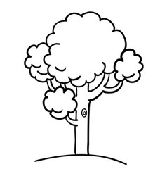 Cartoon image of tree icon tree symbol vector