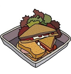 Club sandwich vector image