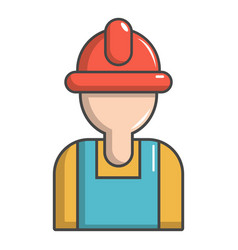 Construction worker icon cartoon style vector