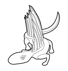 Dinosaur lizard icon outline vector