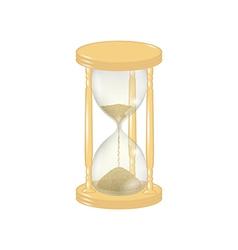 elegant wooden sandglass vector image
