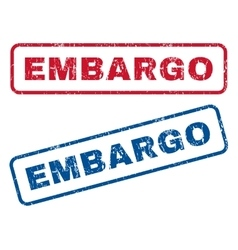 Embargo rubber stamps vector