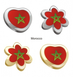 flag of morocco vector image vector image