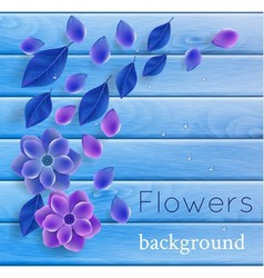 Flowers with petals vector