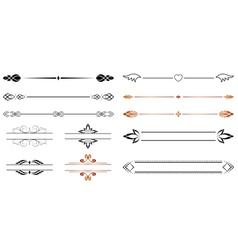 geometric separators vector image