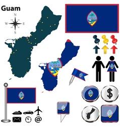 Guam map vector