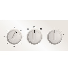 Handles of a cooker vector image