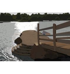 jetty vector image