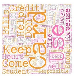 Keep college student credit cards under control vector