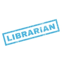Librarian rubber stamp vector