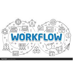 lines template workflow vector image vector image