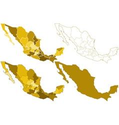 Mexico maps vector