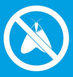 no moth sign icon white vector image vector image