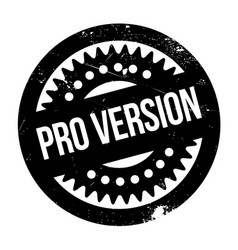 Pro version rubber stamp vector