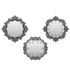 Retro frames set with vintage embellishments vector image