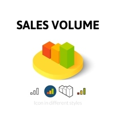 Sales volume icon in different style vector