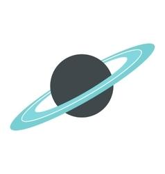 Saturn flat icon vector